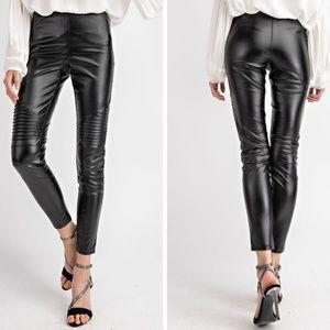 easel Pants - Vegan/Faux Leather Moto Leggings